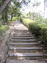 階段になった道